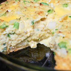 Crabcake Quiche