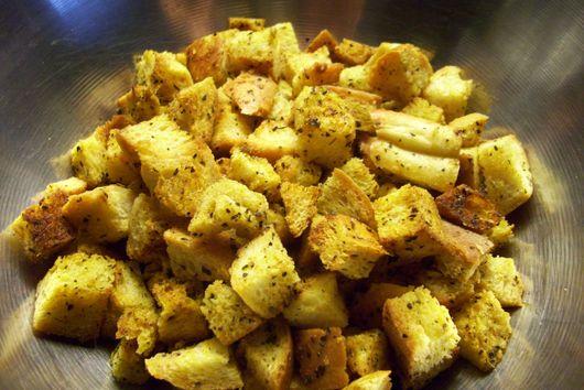 Homemade croutons