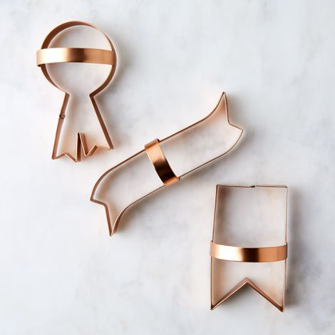 Copper Cookie Cutters (Set of 3)