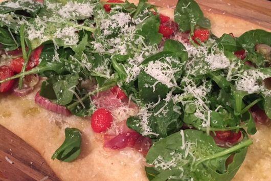 Prosciutto and Tomato Flatbread