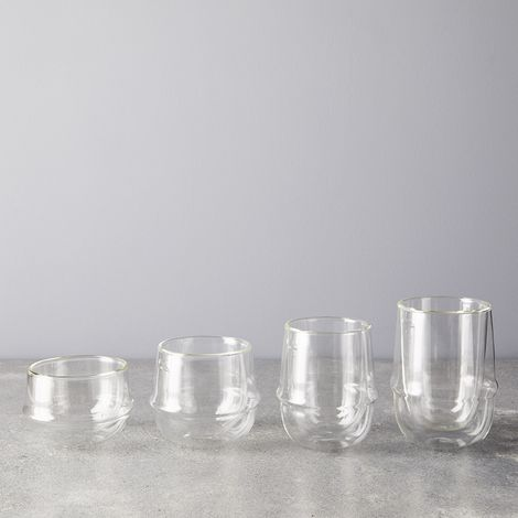 Japanese Double Walled Rim Glasses (Set of 2)
