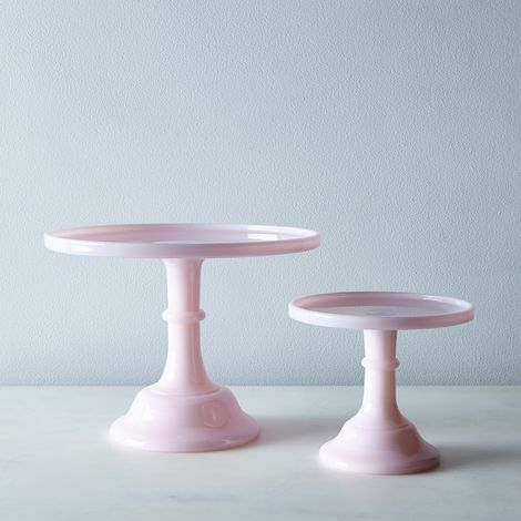 Pink Glass Cake Stand
