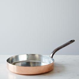 Vintage Copper Sauté and Crêpe Pan, Mid 19th Century