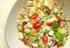 lemony chicken and orzo salad