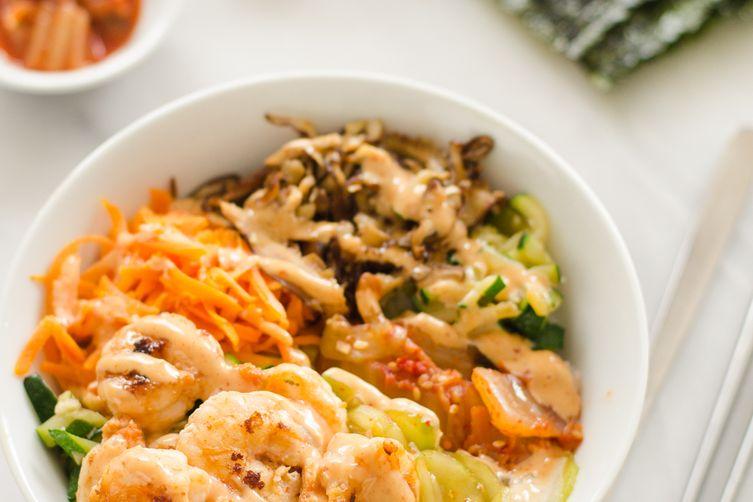 Korean Shrimp Rice Bowls