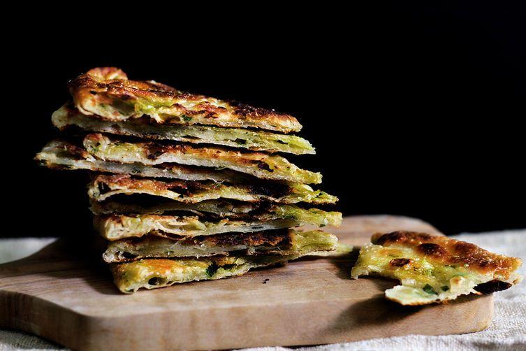 Multi-Layered Scallion Pancakes on Food52