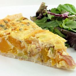 Roasted Butternut Squash, Prosciutto, and Sage Quiche