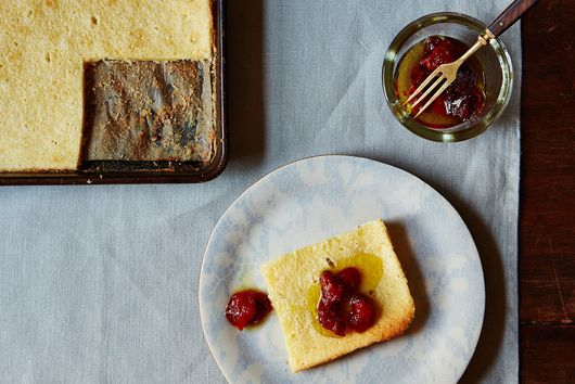 Pecorino Romano Cake with Candied Tomatoes