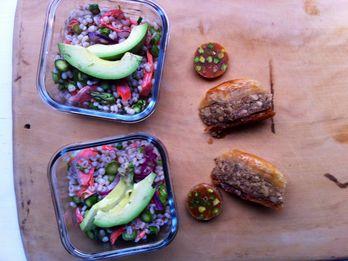 Barley Salad and Baklava