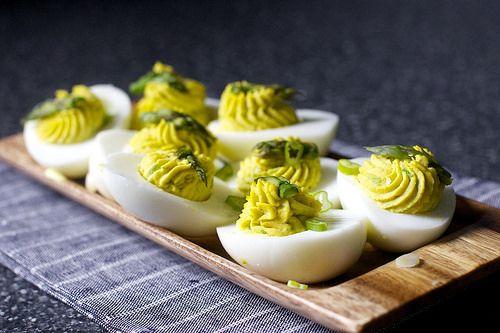 Asparagus Stuffed Eggs