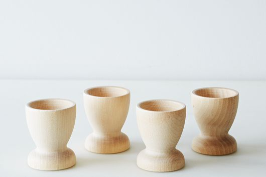 Wood Egg Cups (Set of 4)