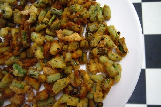 Garlic Scape Croutons