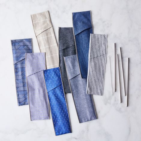 Reusable Straws & Cotton Sleeve