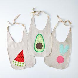 Fresh Produce Baby Bibs
