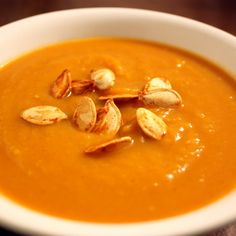 Smoky and Sweet Roasted Pumpkin Soup