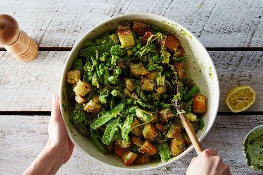 Dinner Tonight: Spring Vegetable Panzanella
