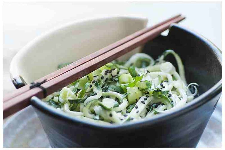 Raw Noodles with Coconut Lime Dressing