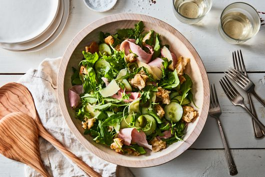 Bread & Butter Salad With Dijon Vinaigrette