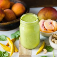 Peach Mango Cream Green Smoothie