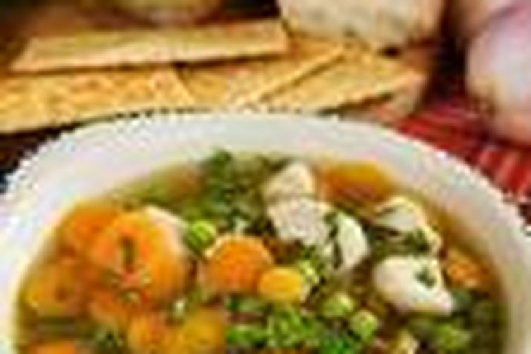 Spring Chicken Noodle and Fresh Lima Bean Soup.