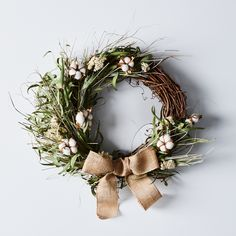 Cotton Blossom Wreath