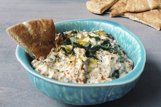 Roasted Kale + Lemon Baba Ghanoush