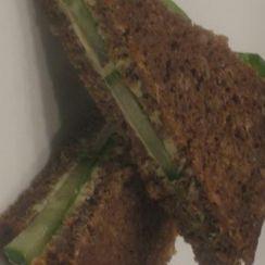 Curried cream cheese and cucumber tea sandwiches