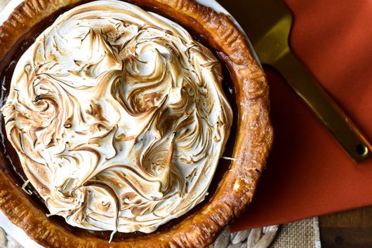 Perfect Pumpkin Pie with Toasted Swiss Meringue