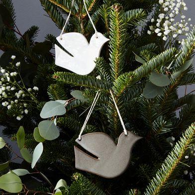 Handmade Ceramic Dove Ornament