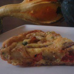 Potato,Eggplant,Tomato and Parsley Frittata
