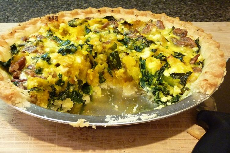 Roasted Kabocha Squash and Kale Tart