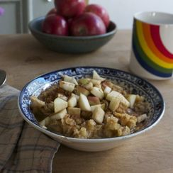 Apple Cinnamon Red Lentil Porridge