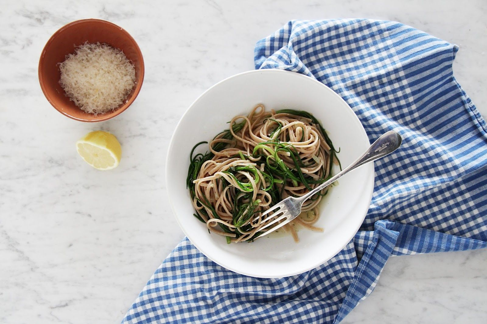 Linguine with Monk's Beard