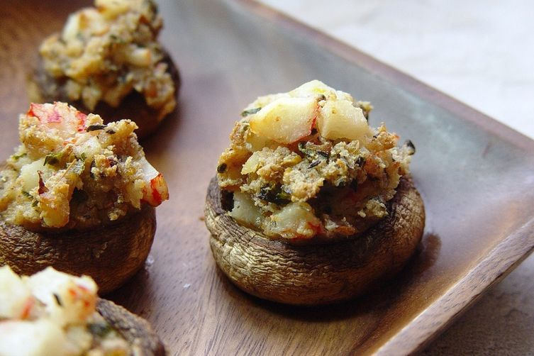 Crab & Herb Stuffed Mushrooms
