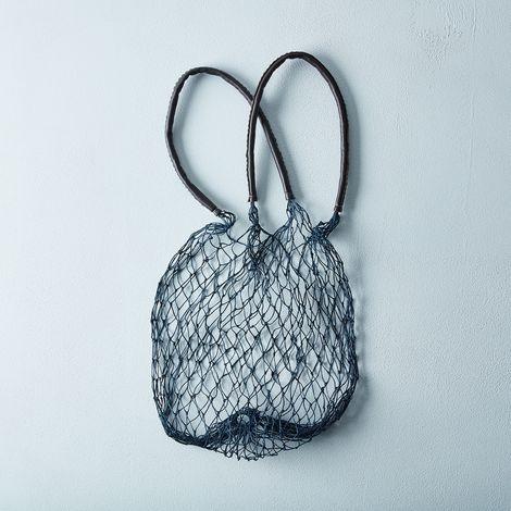 Navy Net Bag