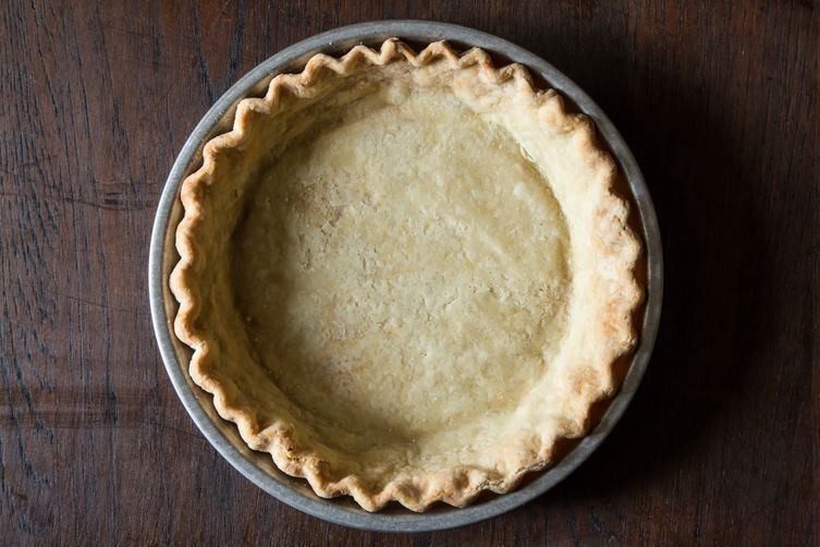 Vegan pie crust, made with coconut oil instead of butter.