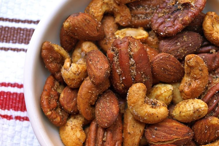 Chaat masala mixed nuts recipe on food52 for Food52 bar nuts