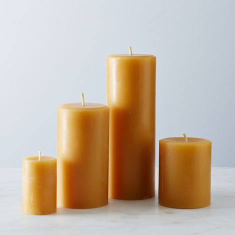 Round Beeswax Pillar Candles