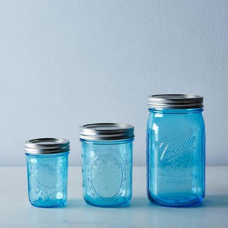 Ball Elite Blue Jars (Set of 8)
