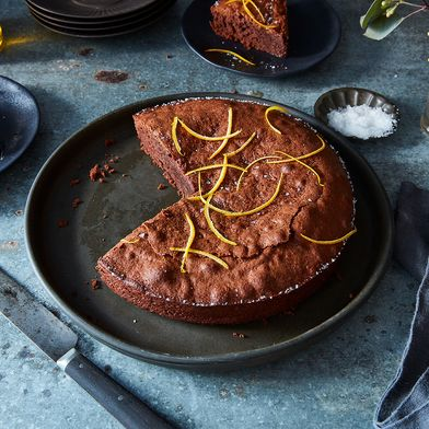 Chocolate Torte with Almonds and Sea Salt