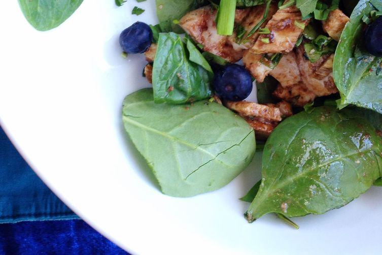 Dijon Tarragon and Balsamic Blueberry Chicken Salad