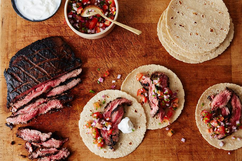 Coffee-Marinated Flank Fajitas with Pico De Gallo