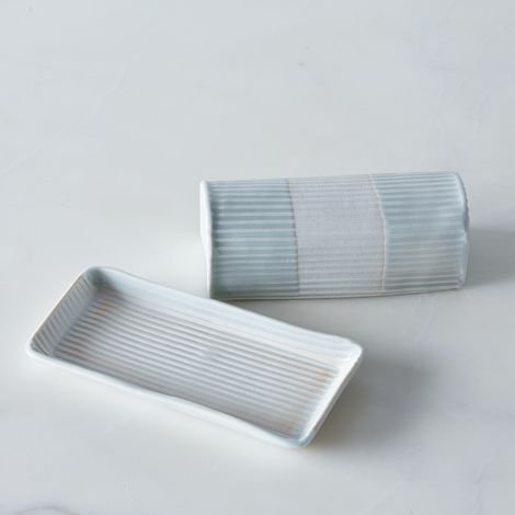 Embossed Porcelain Butter Dish