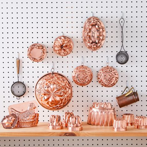 Vintage Copper Cake & Chocolate Baking Moulds