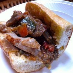 Italian Sausage and Ratatouille Sub