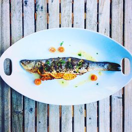Grilled Mackerel with Salsa Verde & Oranges