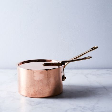 Vintage Copper Leon Jaeggi & Sons Saucepan, Late 19th Century