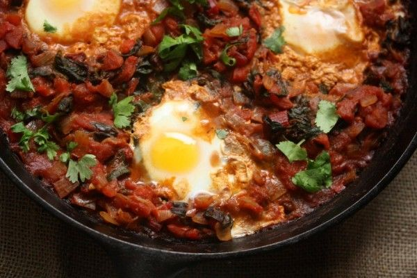 Shakshouka with Red Chard