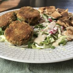 Crunchy Baked Falafel Salad