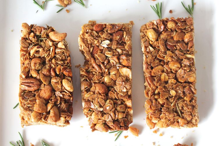 Rosemary cayenne granola bars recipe on food52 for Food52 bar nuts